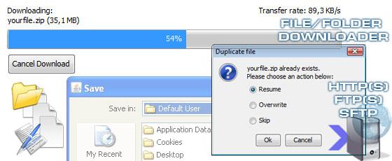 Java file downloader applet - HTTP and FTP